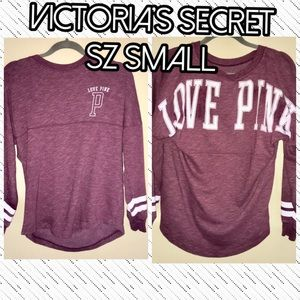 Victoria's Secret PINK SMALL logo oversized top